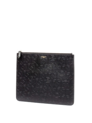 GIVENCHY: pochette online - Bustina in pelle motivo goffrato