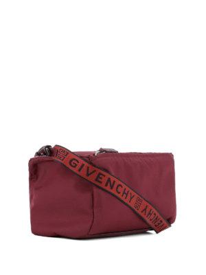 GIVENCHY: borse a tracolla online - Borsa Pandora Mini in nylon rosa fico