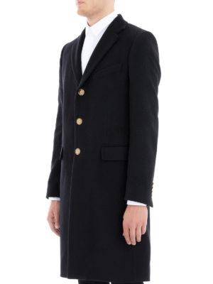 GIVENCHY: cappotti al ginocchio online - Cappotto in lana e cashmere bottoni dorati 4G