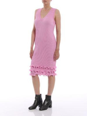 GIVENCHY: abiti al ginocchio online - Abito plissettato in viscosa rosa