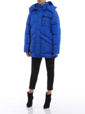 GIVENCHY: cappotti imbottiti online - Cappotto imbottito oversize blu elettrico