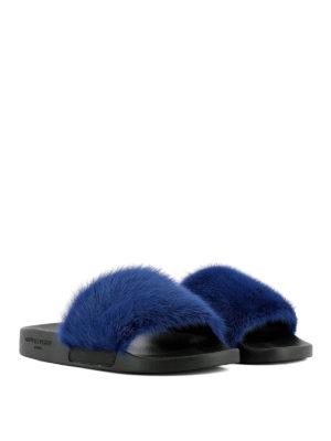 GIVENCHY: sandali online - Sandali a fascia in visone blu