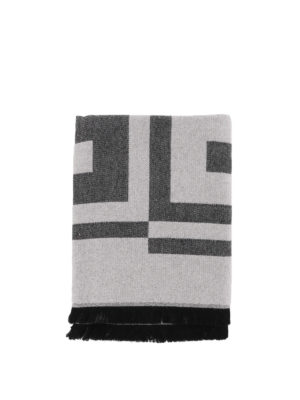 GIVENCHY: sciarpe e foulard online - Sciarpa in lana jacquard con logo