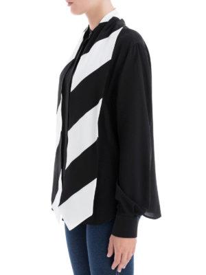 GIVENCHY: camicie online - Camicia in crepe de chine di seta con foulard