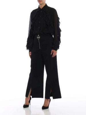 GIVENCHY: camicie online - Camicia in georgette con volant plissé