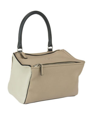 GIVENCHY: borse a spalla online - Pandora S in pelle hammered beige