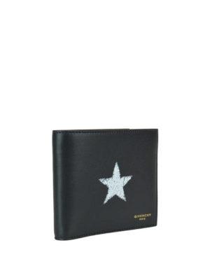 GIVENCHY: portafogli online - Portafoglio bifold in pelle con stella