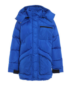 GIVENCHY: cappotti imbottiti - Cappotto imbottito oversize blu elettrico