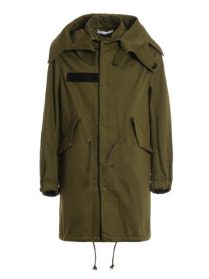 Givenchy: parkas - Cotton printed military parka