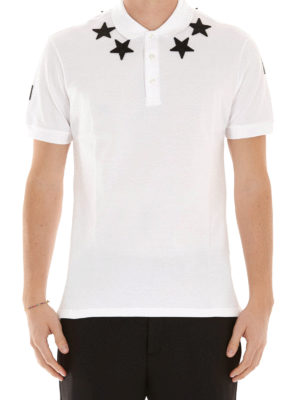 Givenchy: polo shirts online - Contrasting patches polo shirt