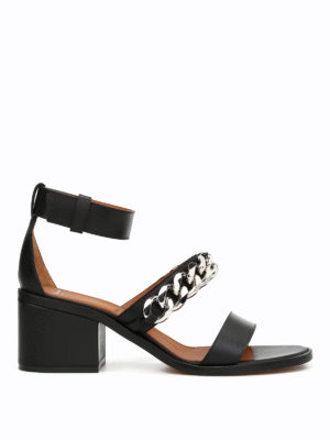 Givenchy: sandals - Chain detailed sandals