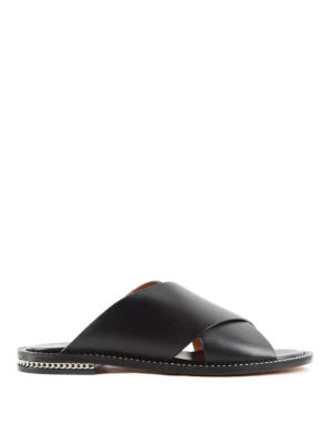 Givenchy: sandals - Criss cross leather sandals