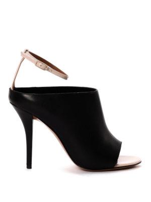 Givenchy: sandals - Leather high heel slide sandals