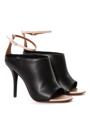 Givenchy: sandals online - Leather high heel slide sandals