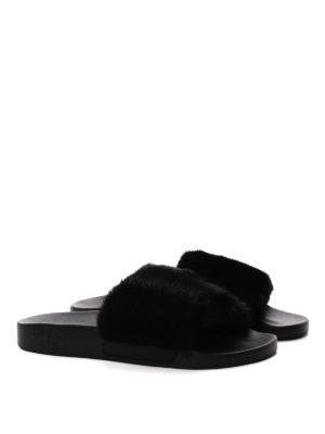 Givenchy: sandals online - Mink detailed slide sandals