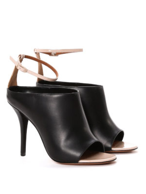 Givenchy: sandals online - Two-tone open toe sandals