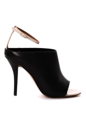 Givenchy: sandals - Two-tone open toe sandals