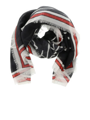 Givenchy: scarves - Bambi print silk blend scarf