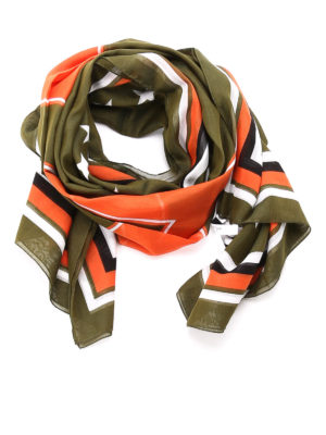 Givenchy: scarves - Cotton printed scarf