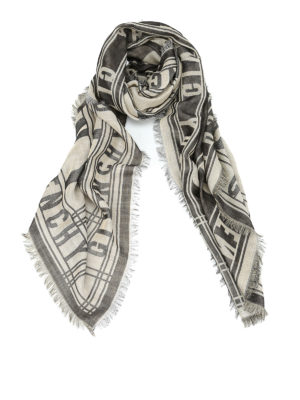 Givenchy: scarves - Cotton wool and silk blend foulard