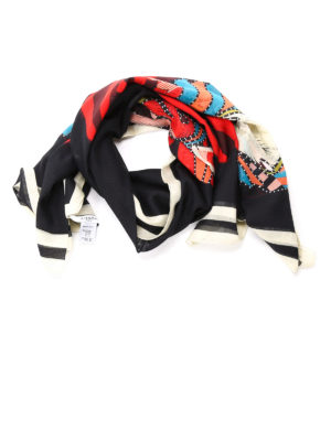 Givenchy: scarves - Dog print scarf
