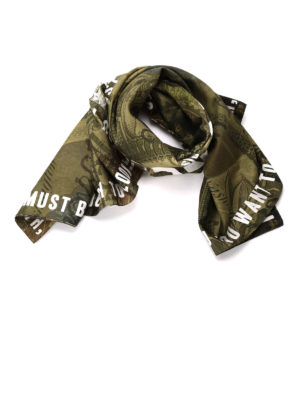 Givenchy: scarves - Dollar print cotton blend foulard