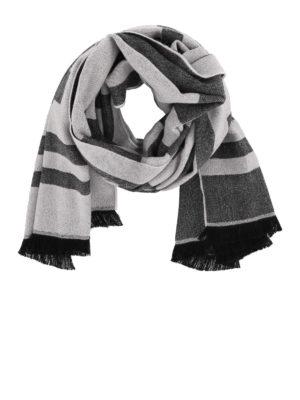 GIVENCHY: sciarpe e foulard - Sciarpa in lana jacquard con logo
