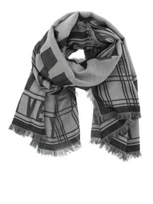 Givenchy: scarves - Logo lettering fringed scarf