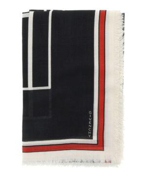 Givenchy: scarves online - Bambi print silk blend scarf