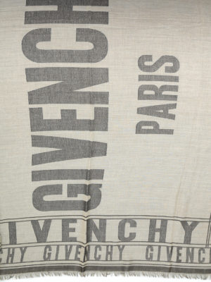 Givenchy: scarves online - Cotton wool and silk blend foulard