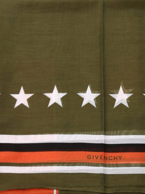 Givenchy: scarves online - Patterned cotton blend foulard
