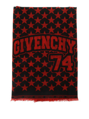 Givenchy: scarves online - Stars print wool scarf