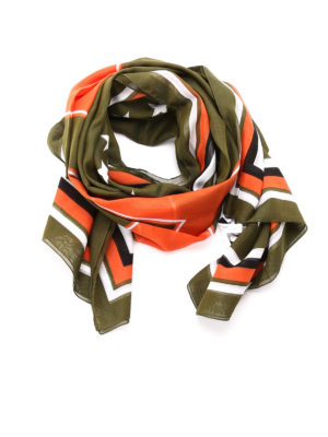 Givenchy: scarves - Patterned cotton blend foulard