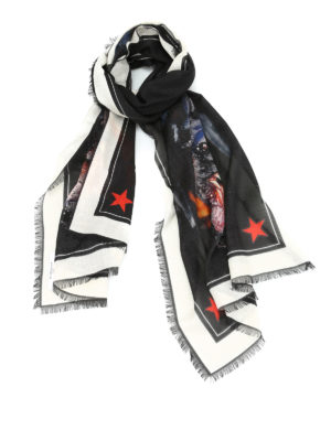 Givenchy: scarves - Rottweiler print silk blend scarf