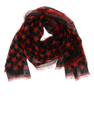 Givenchy: scarves - Stars print wool scarf