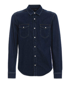 GIVENCHY: camicie - Camicia in denim con banda 4G Givenchy