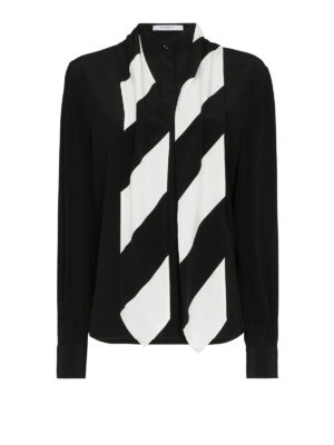 GIVENCHY: camicie - Camicia in crepe de chine di seta con foulard