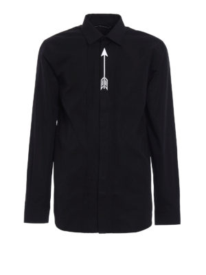 Givenchy: shirts - Embroidered arrow pleated shirt