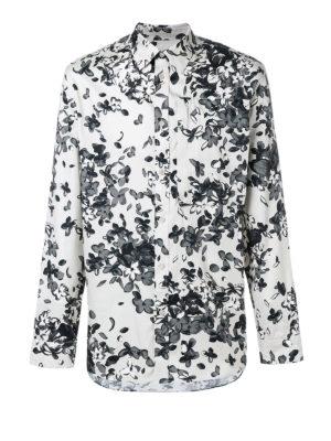 Givenchy: shirts - Flower pattern cotton shirt