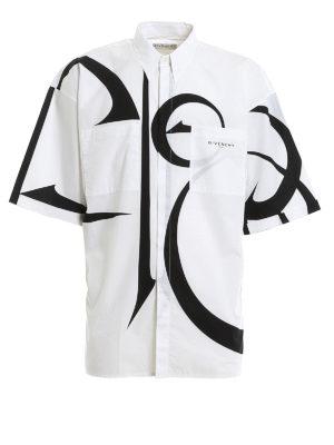 GIVENCHY: shirts - Logo printed shirt