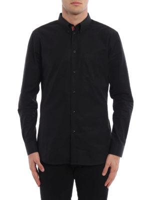 Givenchy: shirts online - Grosgrain band poplin shirt