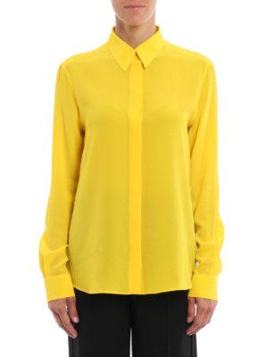Givenchy: shirts online - Silk twill classic shirt