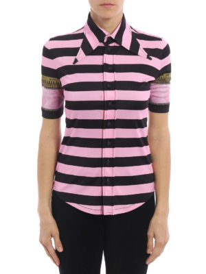 Givenchy: shirts online - Striped jersey shirt