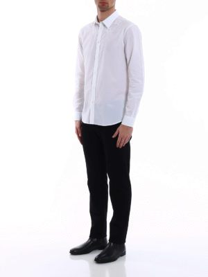 Givenchy: shirts online - Tonal embroidered stars white shirt