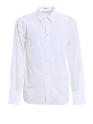 Givenchy: shirts - Tonal embroidered stars white shirt