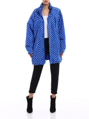 Givenchy: short coats online - Stars patterned raincoat