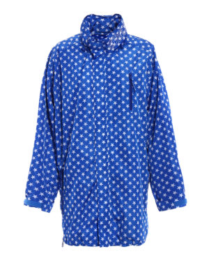 Givenchy: short coats - Stars patterned raincoat
