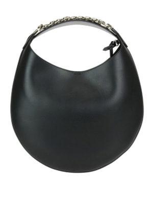 GIVENCHY: borse a spalla - Borsa tonda pelle lucida Infinity