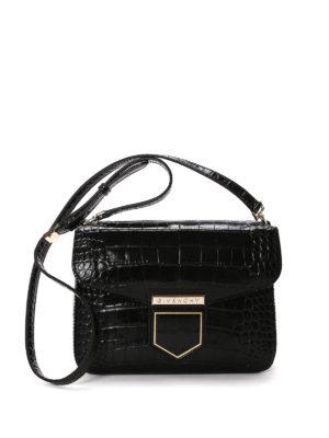 Givenchy: shoulder bags - Nobile croco embossed leather bag