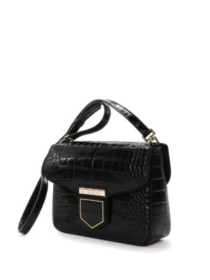 Givenchy: shoulder bags online - Nobile croco embossed leather bag